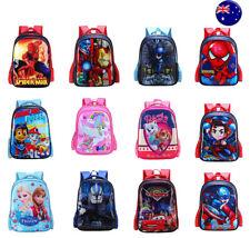 Kids Boys Girls Spiderman Unicorn Batman Frozen Cartoon School Bag Backpacks