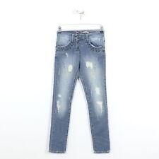PLEASE Jeans Blau Damen Denim Nieten Pants Boyfreiend  Relaxed Gr. XXS XX-Small