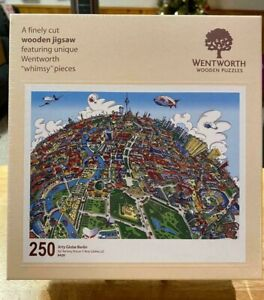 "Wentworth Wooden Jigsaw Puzzle ""Arty Globe Berlin"" 250 Pieces BRAND NEW: SEALED!"