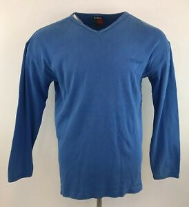 Vintage 90s Kickers Jumper Blue V Neck Cotton Sz Large Mens