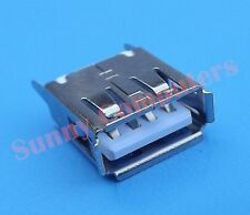 2x USB2.0 Socket Port Female Plug Repair Replacement Part Straight Pin Type-A AU