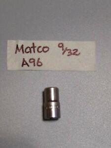 "MATCO, ""Silver Eagle"" #A96, 1/4"" Drive, 9/32"" Socket, Shallow, 6Pt *SHIPS FREE*"