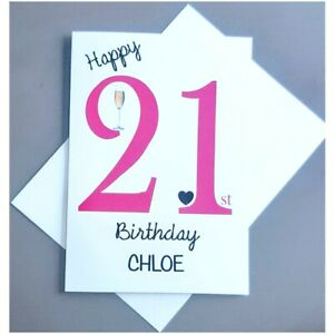 Personalised 21st Birthday Card - 21st Birthday Card for Him or Her - Daughter