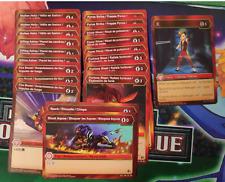 Bakugan Red (Pyrus) AR, R and CO Lot  Battle Brawlers Planet (RL2)