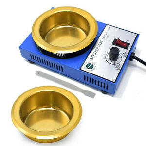 50mm 100mm Mini Solder Pot Soldering Desoldering Bath Tin Melting Furnace 220V