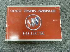 2000 Buick Park Avenue Sedan Owner Owner's Manual User Guide Ultra 3.8L V6