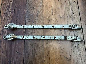 pair of early 1900s window casement arms stay fasteners ( pattern end )