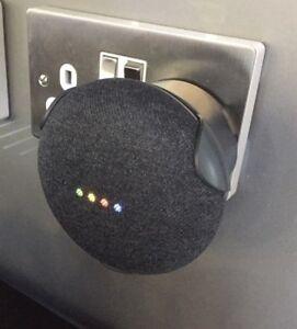 Power Socket Plug in Mount For Google Nest or Home Mini, Charcoal  (Dark Grey)