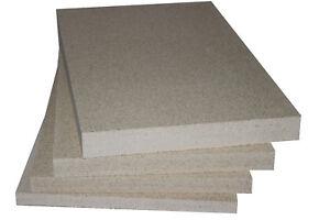 Vermiculite Schamotte Ersatz 1-5 Platten 500 x 300 x 25mm Feuerraum Auskleidung
