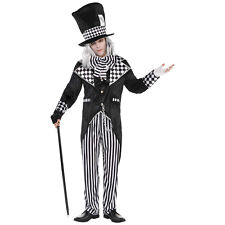 Mens Totally Mad Hatter Costume Adult Dark Alice Halloween Fancy Dress Outfit One Size Chest 40 - 44