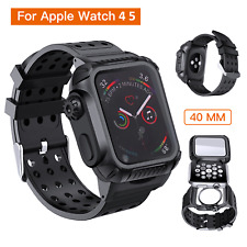 For A pple iWatch 4 5Series Wrist Watch 40mm Protective Case w/ Soft Bands Strap