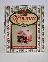 GINGERBREAD COOKIE JAR VINTAGE BRAND NEW HOLIDAY COLLECTION