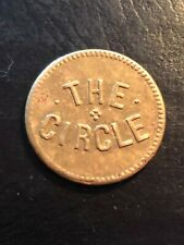 """Civil War Token 5 cent """"the circle"""" ? Date, Nice token ! Doubled G On Reverse"""