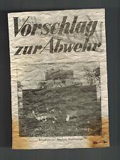 WW 2 Original USA Propaganda Surrender Leaflet Dropped on German Troops Bulldoze