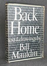 Back Home Bill Mauldin HC/DJ 1947 1st Ed WWII Book Military Drawings Cartoons