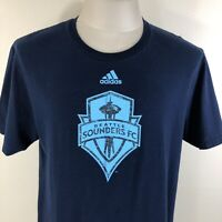 ADIDAS Seattle Sounders FC Navy Blue The Go-To Tee Men's T Shirt Large MLS L