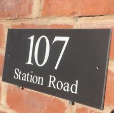 QUALITY SLATE HOUSE SIGNS 300 X 150MM ANY NAME / NUMBER DEEP LETTERING