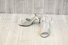 Dyeables Lynn Heels - Women's Size 9 B - Silver Shimmer NEW!