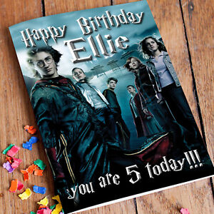 HARRY POTTER **Personalised Birthday Card** Premium Quality - Any Name & Age