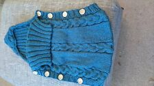 Handmade Hand Knitted Baby Sleeping bag in Denim blue colour