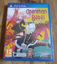 OPERATION BABEL NEW TOKYO LEGACY Jeu Sony Playstation PS VITA Neuf Sous Blister