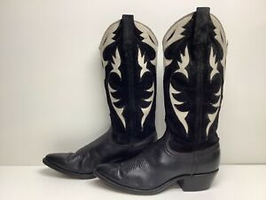 VTG WOMENS DAN POST COWBOY BLACK BOOTS SIZE 6.5 M