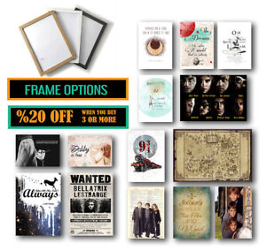 Harry Potter Posters for Fans, Framed Wall Art Print Options Valentines Day Gift