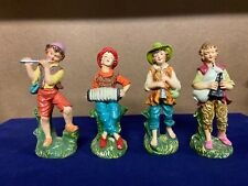 Antique ~ Vintage ~ Original Made In Italy ~ Nativity Figures ~ 4 Musician Lot