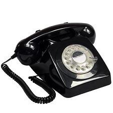 GPO 746 Retro Black Telephone 60's 70's British Rotary Dial Handset