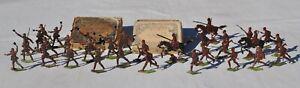 32 Soldats Allemand miniature en étain peint - Ernst Heinrichsen Début 1900' WW1