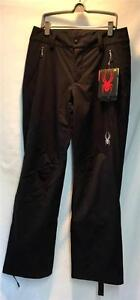 Spyder Women's Circuit Snow Ski Pants Black Size 12 Long NEW