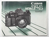 Bedienungsanleitung Canon F-1 F 1 new Anleitung Instructions