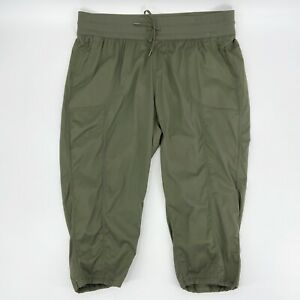 The North Face Womens Aphrodite 2.0 Capri Pants Stretch New Taupe Green Sz 2X