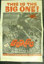 """GORGO"" Original 1961 Tabloid herald order form."