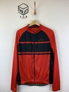 ALTURA, Mens Size L, Red/Black, Small Logo, Full Zip LS Cycling Jersey,*EX COND*