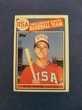 MARK McGWIRE 1985 TOPPS CARD #401 ATHLETICS/CARDINALS ((ROOKIE)) TEAM USA