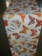 Decorative Table Runner Butterfly Orange Colour With Lining (150 cm x 35 cm)