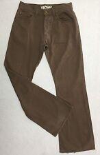 """FIRETRAP 'Kicka' Men's Jeans size 32 Brown Pants waist= 31"""" Button Fly Wide Leg"""