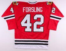 db2fdff556a Gustav Forsling Signed Blackhawks Jersey (Beckett) Chicago Rookie Defenseman