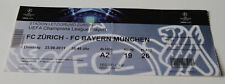 Ticket for collectors CL FC Zurich Bayern Munchen 2011 Switzerland Germany