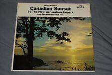 NEW GENERATION SINGERS Lou Hayward Trio CANADIAN SUNSET Rare LP