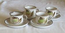 Denby Troubadour FOUR Cups & Saucers