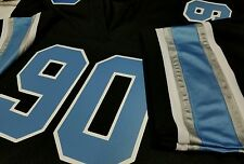Big and Tall #00 Detroit Black Football Jersey Your Name&NumberTwill -SEWN-ON.