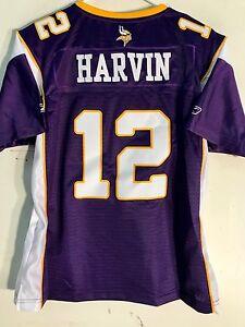 Reebok Women's Premier NFL Jersey Minnesota Vikings Percy Harvin Purple sz XL