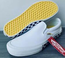 Vans Classic Slip-On Pro Ultracush Skate Shoes Men's Size 11 Neon Checker White
