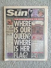 The Sun Newspaper. Princess Diana. 4th September 1997. COMPLETE PAPER