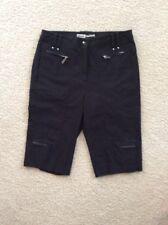 JAMIE SADOCK Golf Shorts Flat Front SZ 8 Black Nylon Rayon Spandex EUC