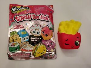 New Shopkins Squishy Series 2 French Fries with Original Packaging