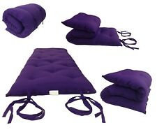 King Traditional Floor Futon Mattresses Cotton/Foam 80L x 72W x 3T, Purple