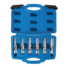 """Flexi Spark Plug  Glow Plug Socket Set 8mm 9mm 10mm 12mm 14mm 16mm In Case 3/8"""""""